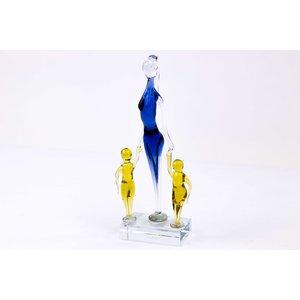 Glazen beeldje Family 23x10cm