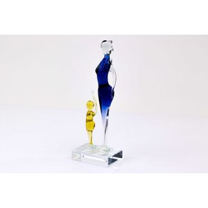 Glass figurine Mother with child 2 26x8cm