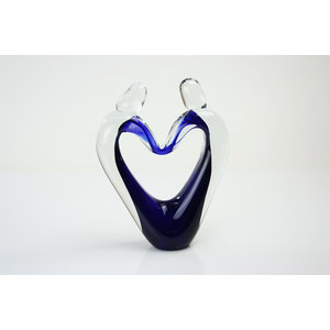 Glass object Connectedness blue 23-25cm