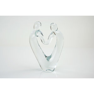 Object glas Verbondenheid transparant 23-25cm