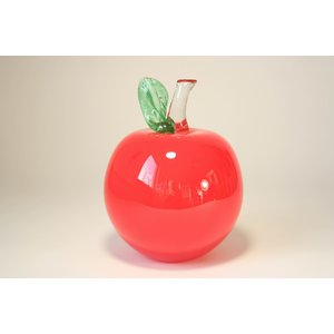 Glass statue Apple PPJP red 16cm