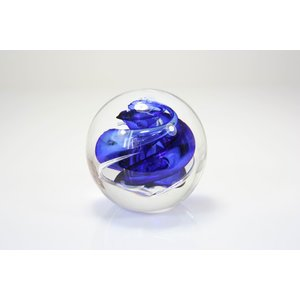 Ball spiral blue 8 cm