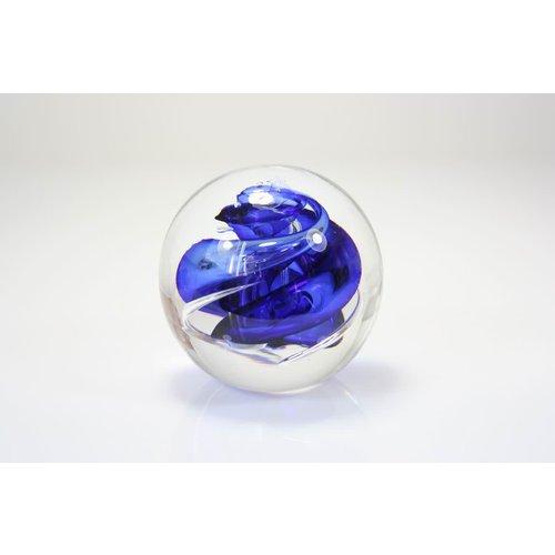 Kugelspirale blau 8 cm