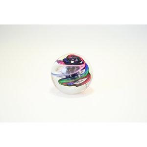 Glaskugel Spirale Multi 8 cm
