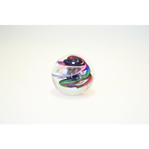 Glass sphere spiral multi 8 cm