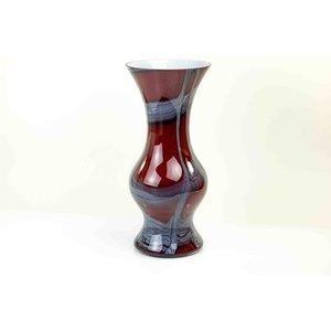 Vaas glas rood 50cm