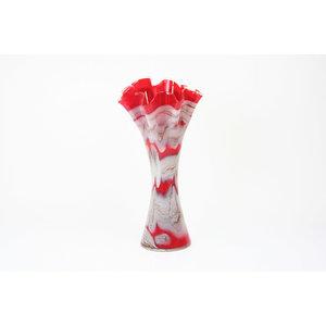Glazen vaas rood 40cm