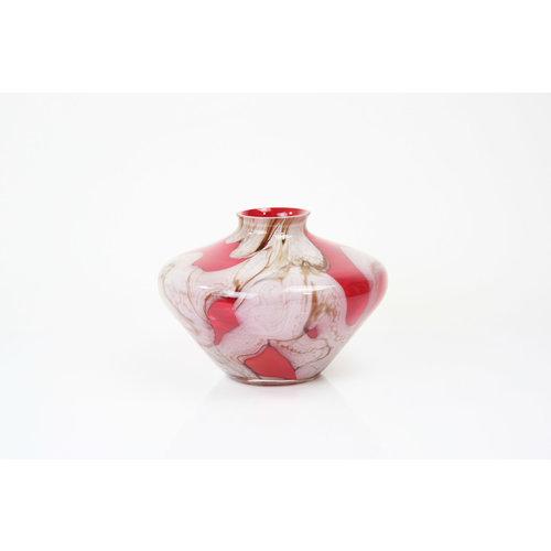 Vaas glas rood 15cm