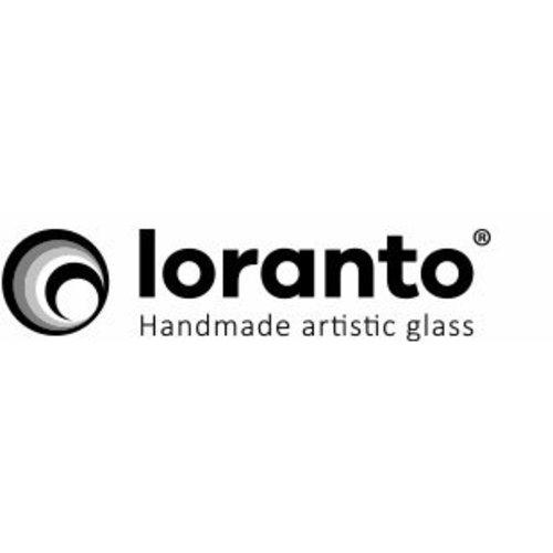 Vogelstatuette rot / weiß 12 cm Glas