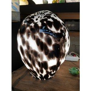 Glass lamp 'Dalmatian' 34cm