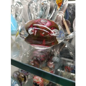 Paperweight crystal glass stone red