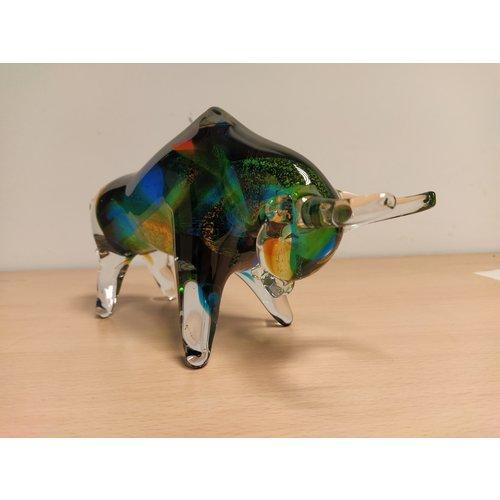 Image glass bull multi 27 cm