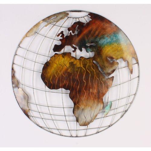 Globe wanddecoratie