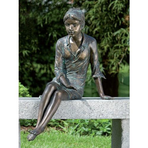 Girl sitting bronze