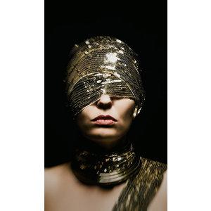 Glasschilderij Verblinde vrouw 70x118cm