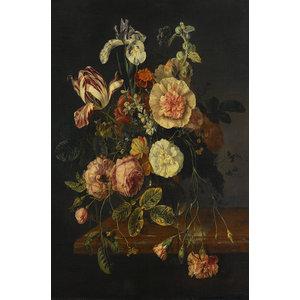 Glasschilderij Boeket J.v. Walscapelle