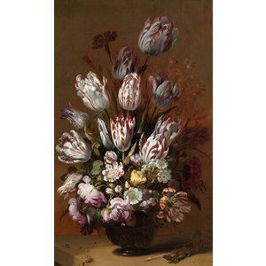 Glasmalerei Blumenstrauß H Bollongier anno 1639