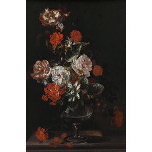 Glasschilderij Boeket Jacob Campo Weyerman