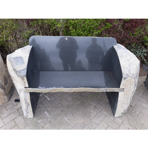 Garden bench Basalt Nature
