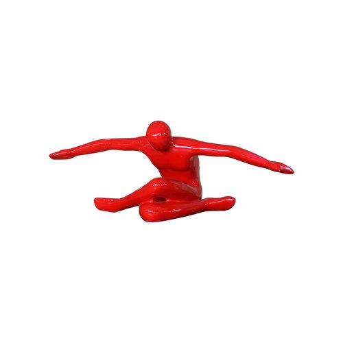 Flying man red high gloss
