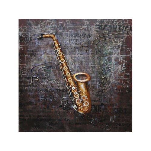 Painting 3d Saxophone