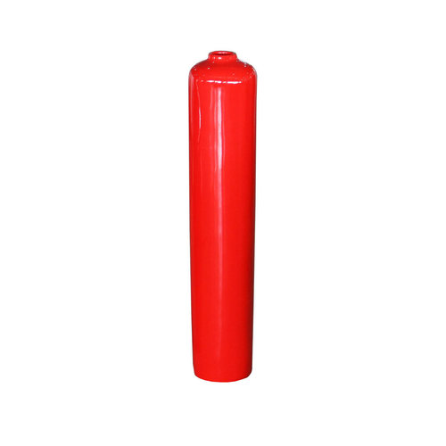 Decorative vase red high gloss