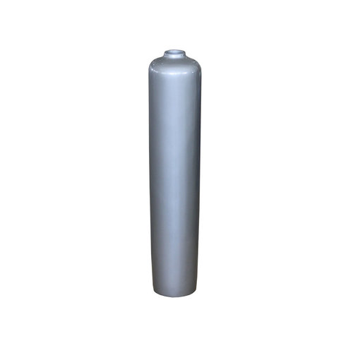 Decorative vase silver gray high gloss