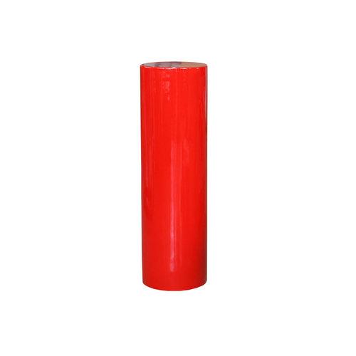 Säule rund Hochglanz 100cm rot Hochglanz
