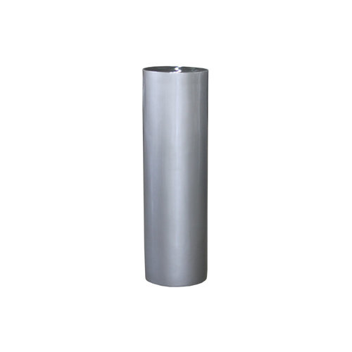 Column around 80cm silver-gray high-gloss
