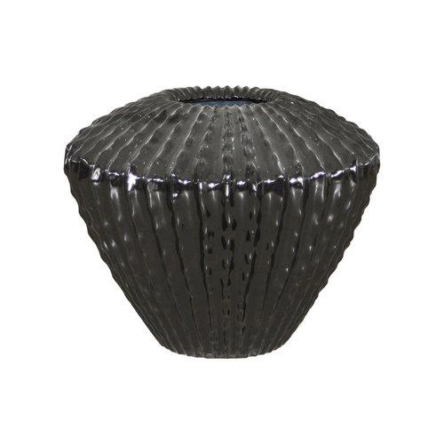 Cactuspot zwart hoogglans 45cm