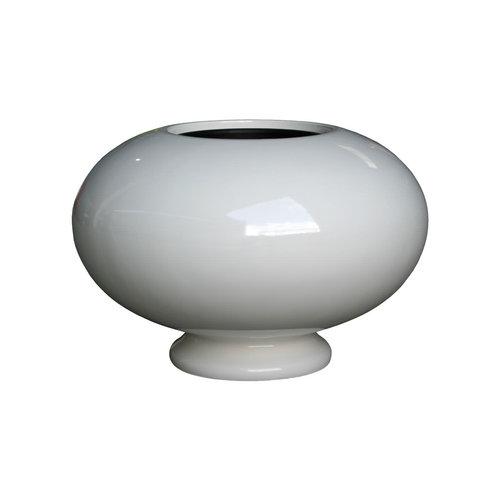 Pot vase Slim white high gloss