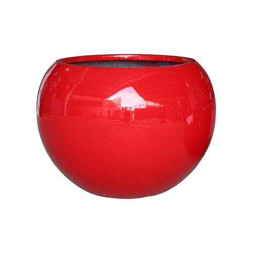 Large round pot Codi red high gloss