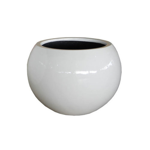 Round pot Codi white high-gloss 40cm