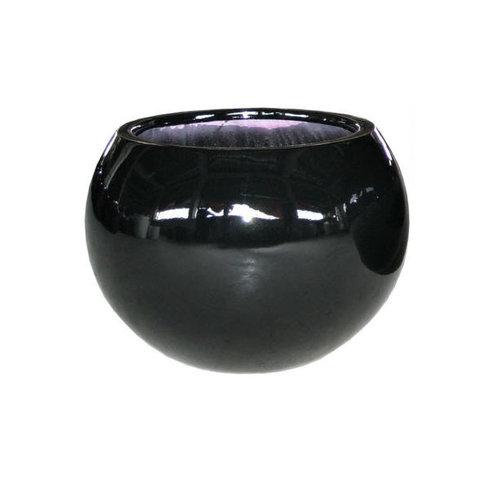 Bolpot rond Codi zwart hoogglans 40cm