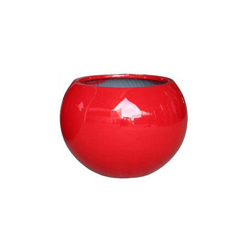 Bolpot rond Codi rood hoogglans 40cm