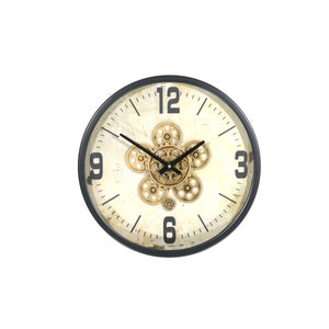 Wall clock around Gear Black 46cm