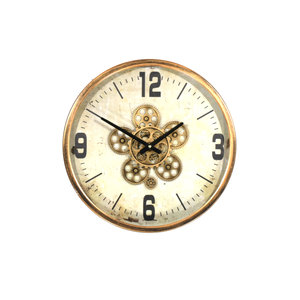 Wall clock around Gear Copper 46cm