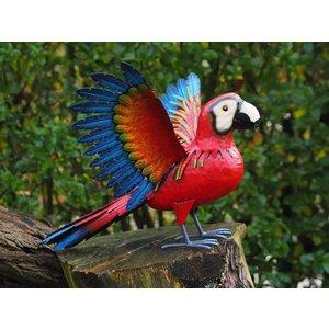 Papagaai metaal 45cm