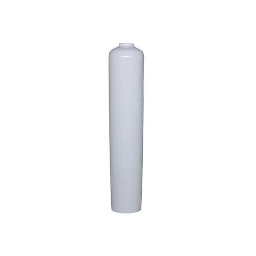 Decorative vase white high gloss
