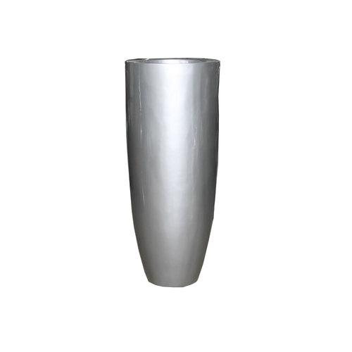 Vaas hoogglans zilvergrijs 120cm