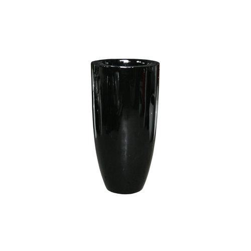 Vaas hoogglans zwart 90cm