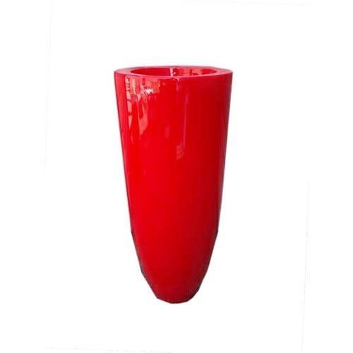 vaas hoogglans rood 120cm