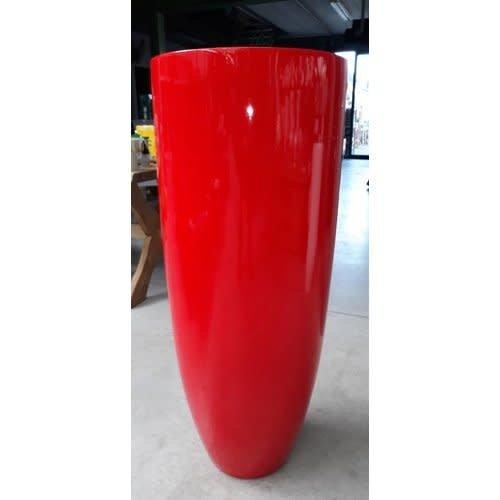 Vaas hoogglans rood 90cm