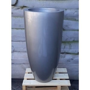 Vase high gloss silver gray 90cm