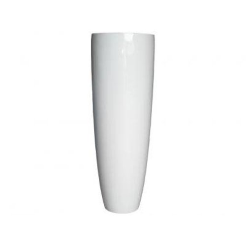 Vaas hoogglans wit 150cm