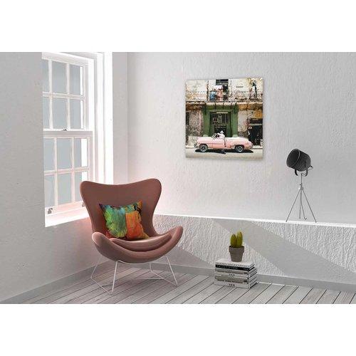 Wandkraft Malerei Dibond Pink Auto 74x74cm