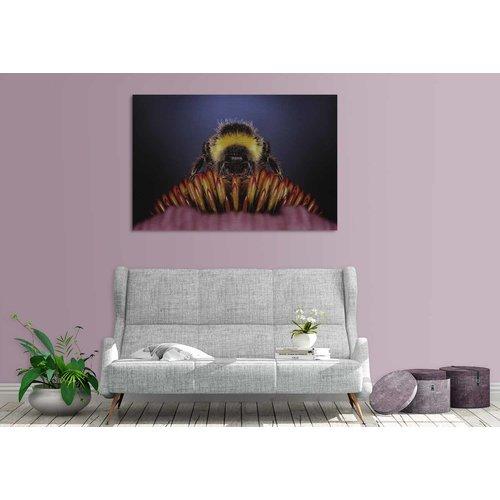 Wandkraft Malerei Dibond Edelstahl Hummel 148x98cm