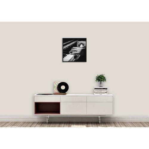 Wandkraft Gemälde Forex Pianist 74x74cm