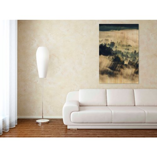 Wandkraft Schilderij berkenhout Wolken 148x98cm