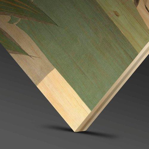Wandkraft Malerei Birkenholz Schaf 74x74cm